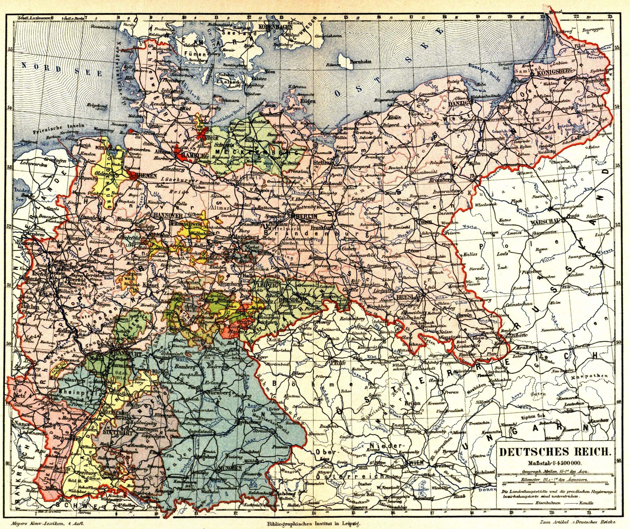 Map Of Germany In 1914.Historical Maps Of Germany